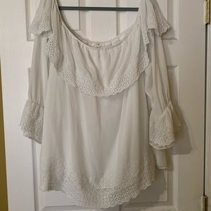 Beautiful off shoulder white blouse from Maurices